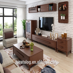 KT169 MDF tv cabinet malaysia simple tv stand wood tv cabinet in foshan factory