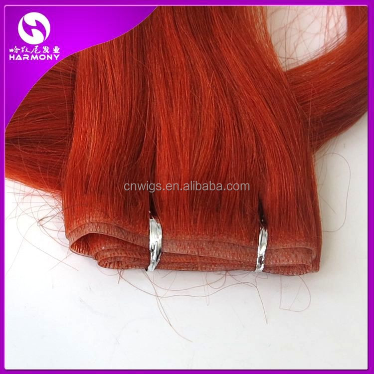 HARMONY 20inch Copper Red #350 silky straight seamless tape remy hair extensions skin weft