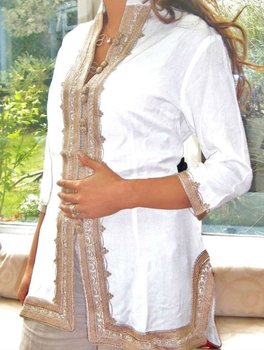Moroccan Women s White Tunic - Buy Tunic Product on Alibaba.com dccb554414f0