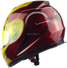 motor helmet manufacture full face IRON MAN DOT certificated helmet racing