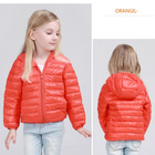 kids warm down feather winter goose down jackets with hoody