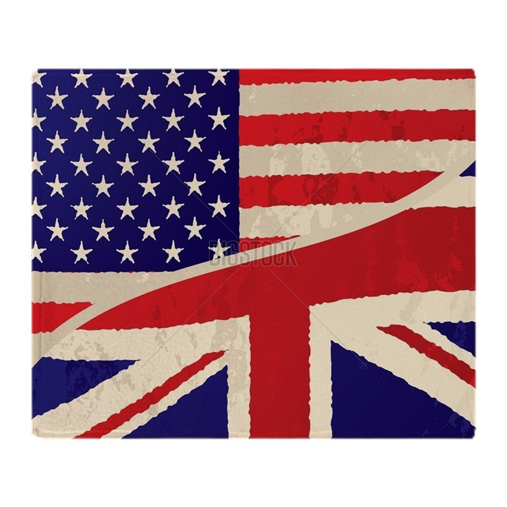 "CafePress - Usa British Grunge Flag - Soft Fleece Throw Blanket, 50""x60"" Stadium Blanket"
