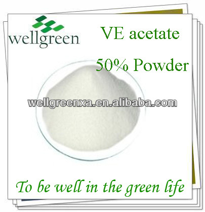 Supply USP Feed Grade VE acetate powder vitamin E Powder