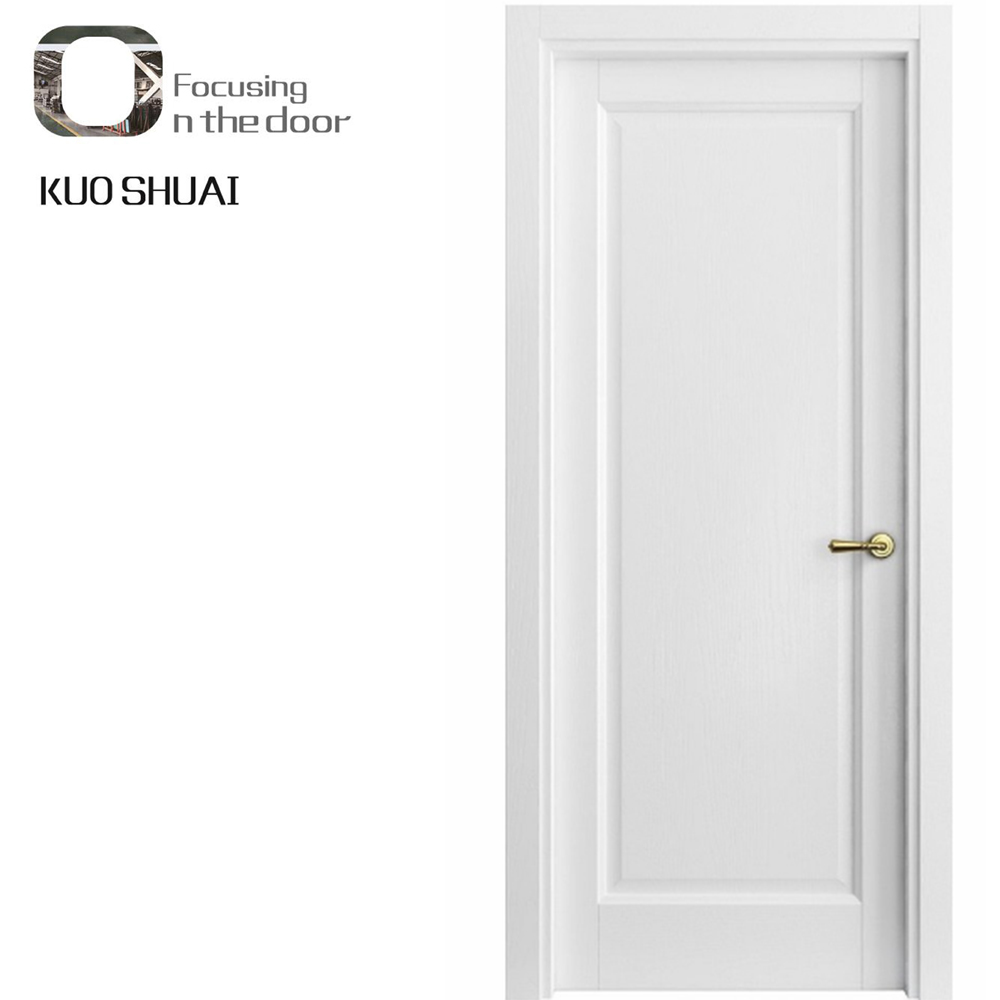 Prehung Interior Doors Flush White Modern Unique Chinese Wood Door Pre Hung Internal Entry