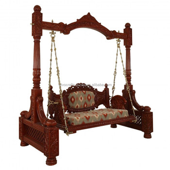 Royal Indian Rajasthani Hand Carved Swing Jhoola Carved