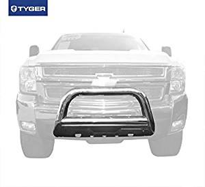Tyger Auto TYGER 3.5inch Oval Stainless Steel Bull Bar Fits 07-10 Chevy Silverado/Gmc Sierra 2500Hd/3500