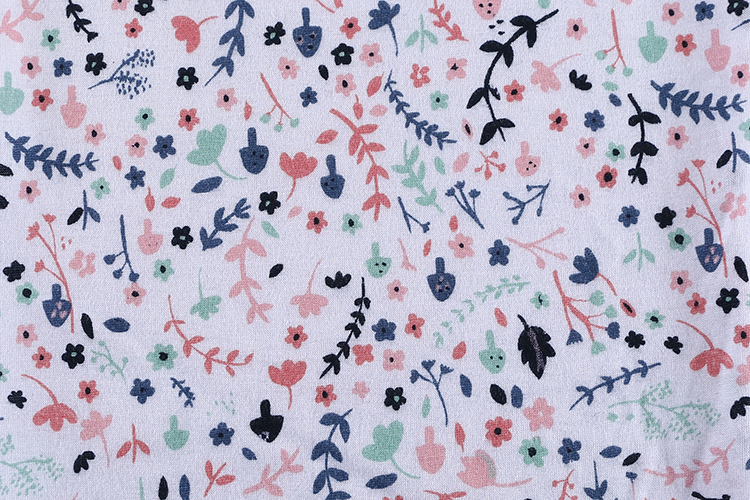 2019 fashionable China wholesale knitted jersey colorful floral print cotton fabric