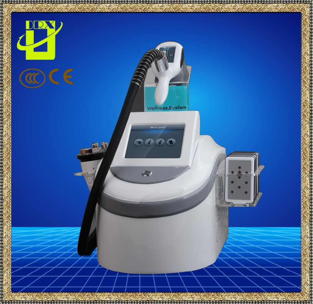 5Mhz RF and 40K ultra cavitation Laser cryolipolysis fat loss machine/ 4 in 1 ultra cavitation machine