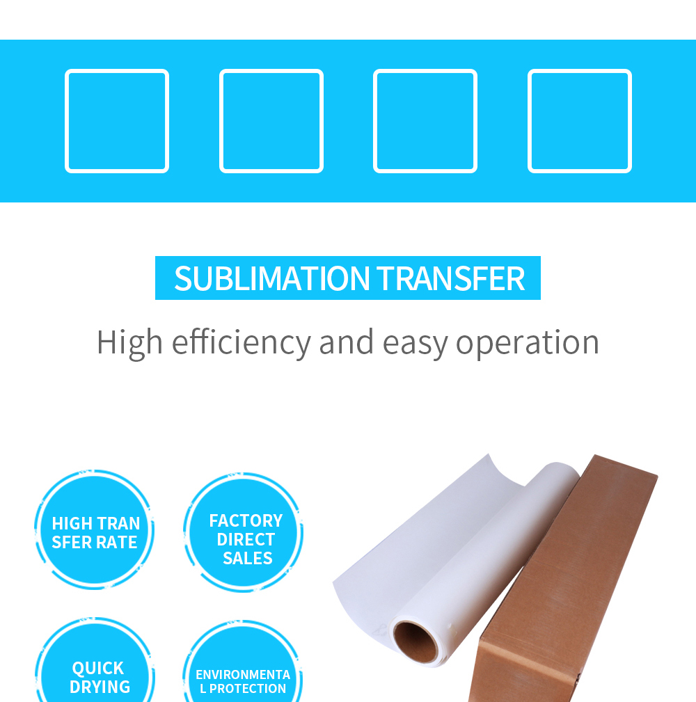 35gsm 48gsm 70gsm 90gsm sublimation paper roll heat transfer paper sublimation for t-shirt textile