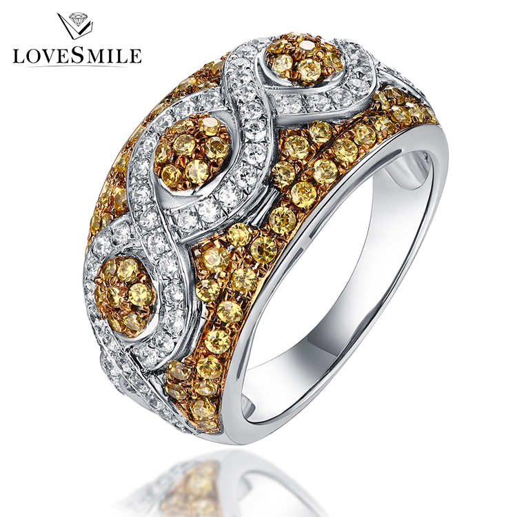 Hand made jewelry 925 silver designer pave diamond artificial stone zircon ring