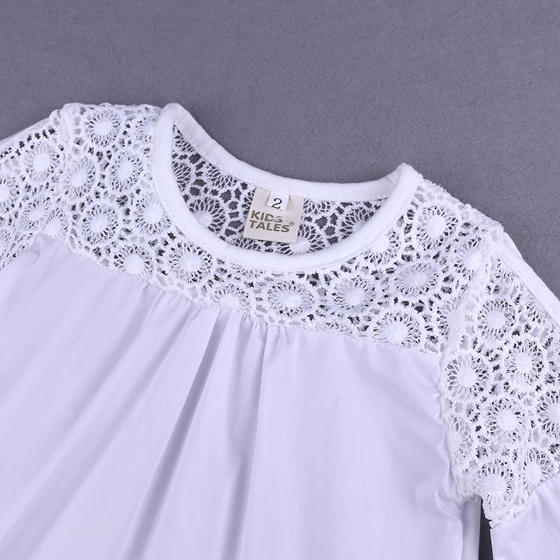 161b438aa3 Verão Conjunto de Roupas Meninas Criança Moda Calças de Jeans + Blusa de  Renda Branca Crianças
