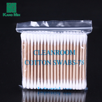 Clean Point Ear Cleaner Stick Disposable Wooden Stick Cotton Swabs Buds In Zip Bag