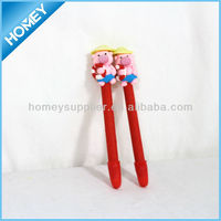high quality animal head pen,polymer clay pen