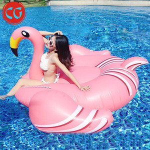 Customizable Inflatable float swim pool adult flamingo inflatable water bed