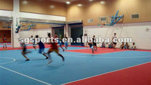 All weather plastic artificial sports surface with interlocking system