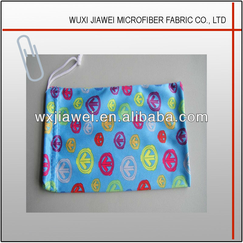 microfiber cloth bag for glasses with logo printing