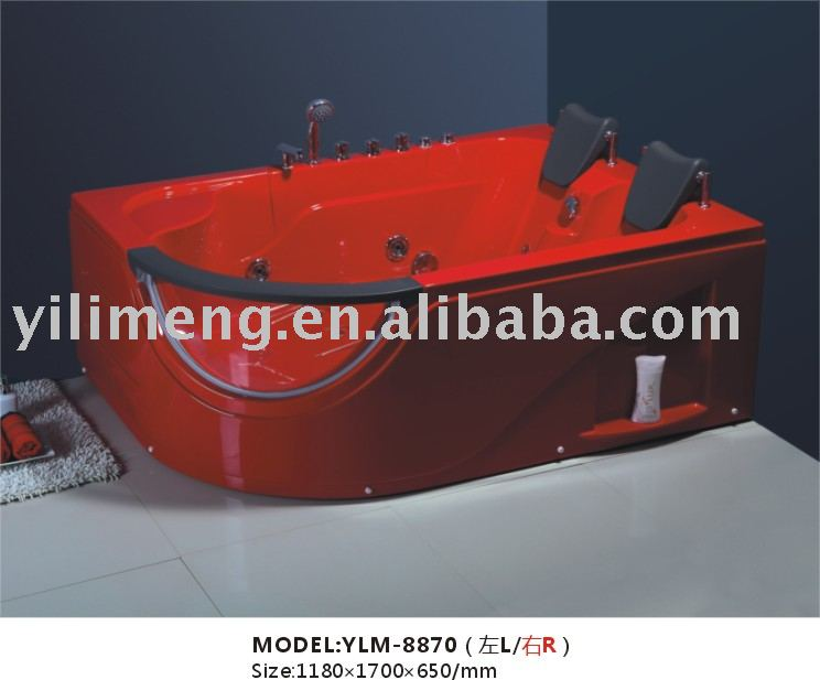 red massage bathtub