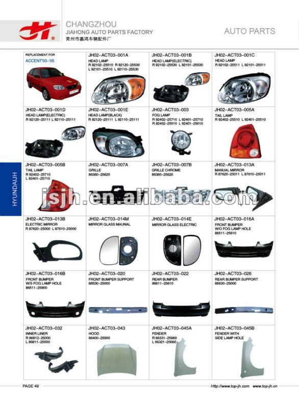 for hyundai accent 03 spare parts buy for hyundai spare parts rh alibaba com hyundai accent body parts catalog 2009 hyundai accent parts catalog