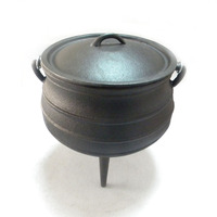 Cast iron South Africa Three legged potjie pot