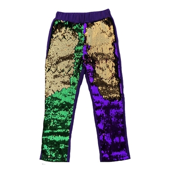 Hot Selling Mardi Gras Women Trousers Gold Purple Green 3 Color