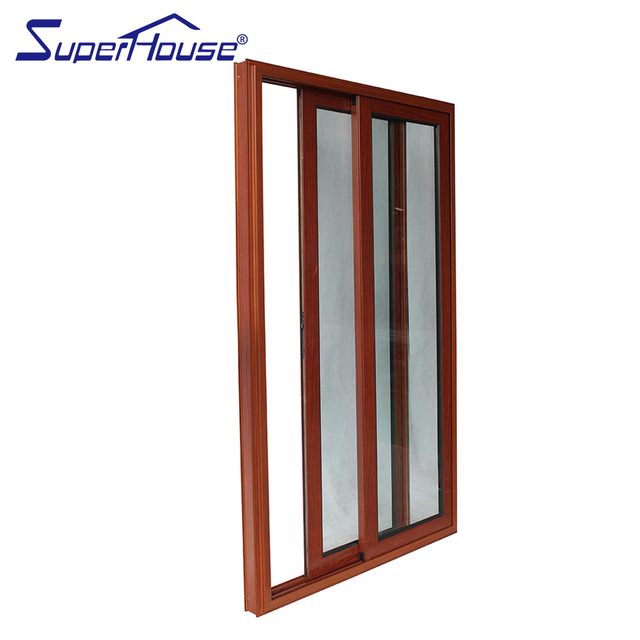 North America CSA/NFRC/Florida Standard Thermal Break Wood Color Double  Glass Aluminum Interior