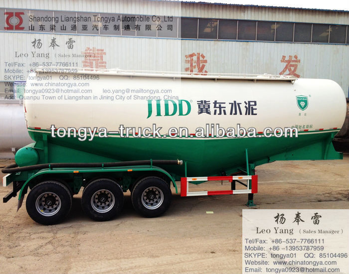 BPW axle JOST support legs bulk cement tanker semi trailer