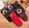 fashion style women pu leather gloves ladies gloves