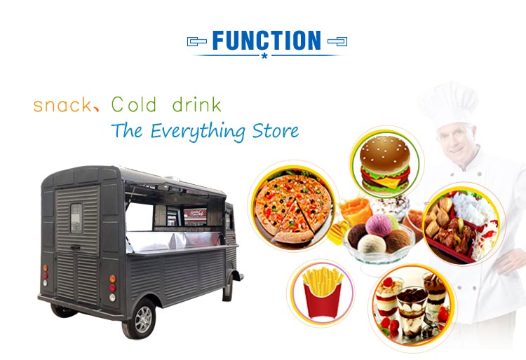 Factory Price luxury mobile electric Citroen food truck