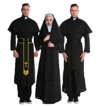 Halloween Adult Gothic Priester <span class=keywords><strong>Uniform</strong></span> Cosplay Kostuum