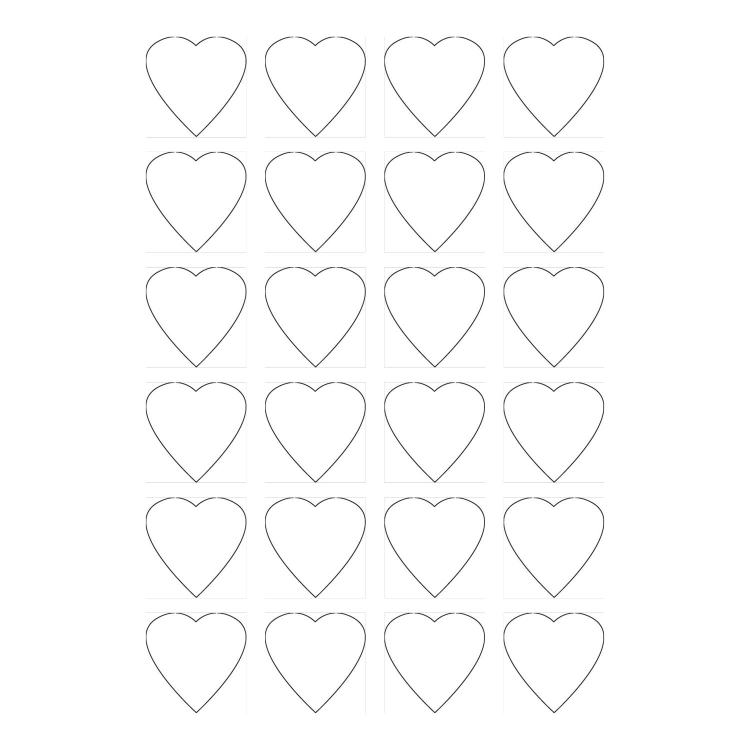 120 Printable Cardstock Small Heart Hang Tags, Personalize and Custom Tags, No Perforation Marks, 1.5 inches, White