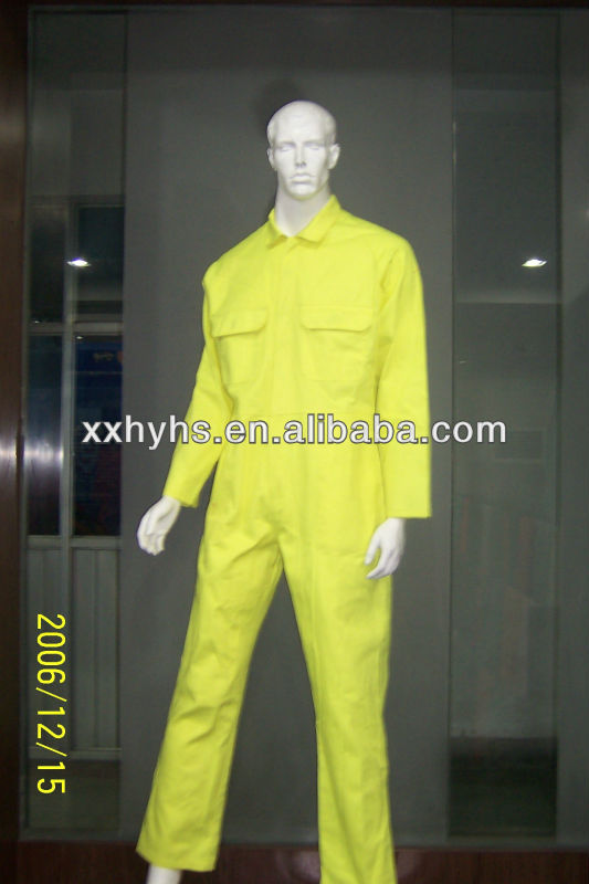 20*16 yellow 100% cotton flame retardant polo shirts for workers meet en11612