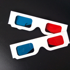 Wholesale Universal Anaglyph Cardboard Paper Glasses Red & Blue Cyan 3D Glasses For Movie
