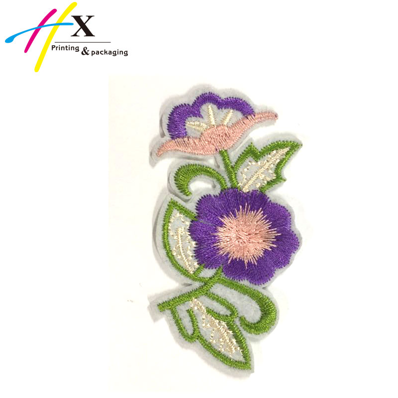 Custom Heat Press Embroidery patches Flower For Clothing
