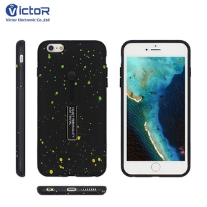 2018 Factory star printing designs PC with TPU case for iphone 6 plus with kickstand function