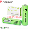 Brillipower 18650 high drain 18650 40a 3100mah 18650 li ion battery 18650 mod rechargeable lithium ion battery