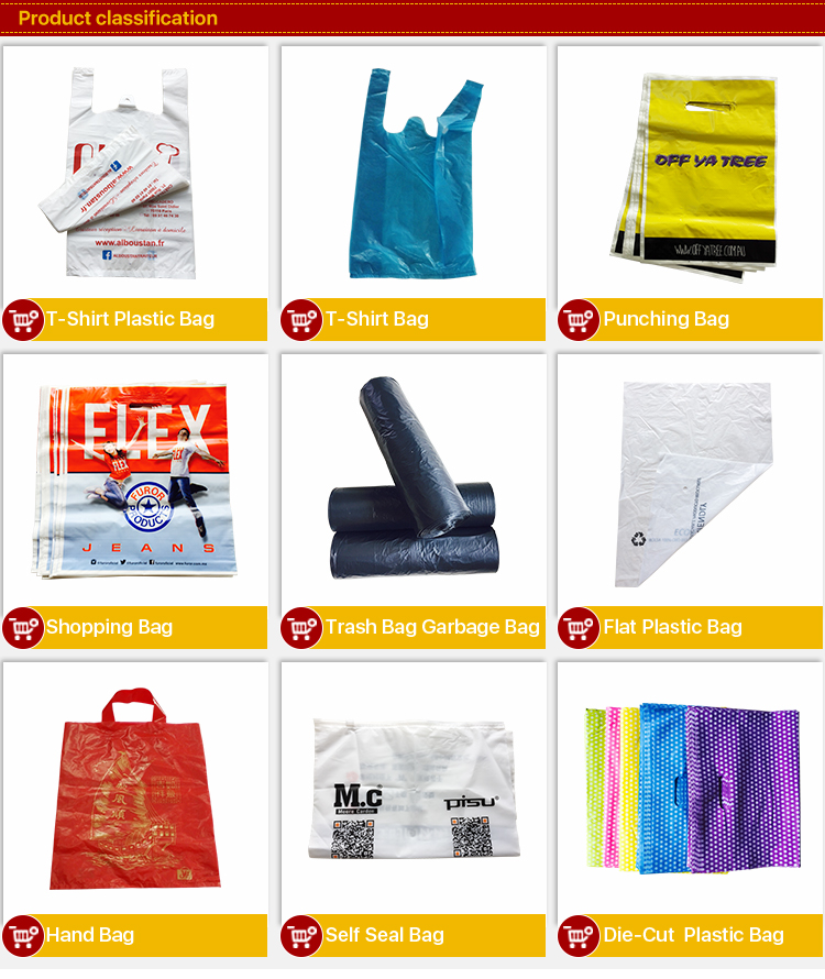 Custom printed biodegradable cheap plastic t-shirt poly shopping bag