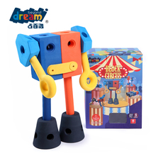 2016 Wholesale Robot Kids DIY Block Build Toy