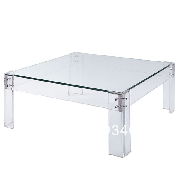 Acrylic And Glass Coffee Table: Livraison Gratuite Acrylique Fin Table D'appoint