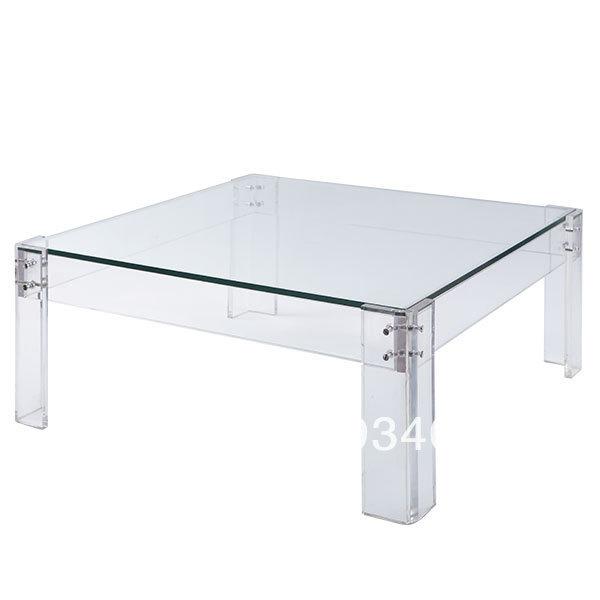 livraison gratuite acrylique fin table d 39 appoint plexiglas lucite plexiglas table basse. Black Bedroom Furniture Sets. Home Design Ideas