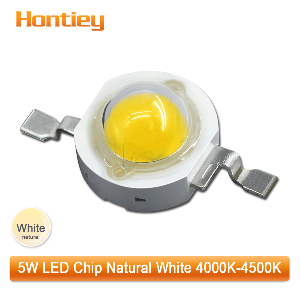 100pcs1set High Power LED Chip 5 watts Natural White 4000-4500K 45mil COB Lamp Beads For escape sign luminaire light nature