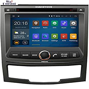 "NaviTopia HD 1024x600 Quad Core 16G 7"" Pure Android 5.1.1Car DVD Player for SSANGYONG KORANDO 2010- GPS Navigation"