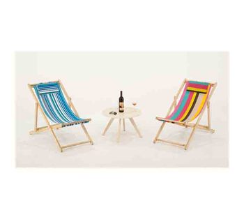 Outdoor Furniture Leisure Wooden Folding Fabric Beach Chairs
