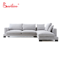 Baotian Furniture modern style L-shape sectional sofa for hotel project