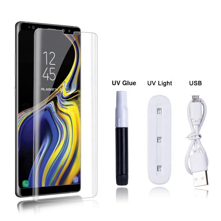 LITO 3D Full Glue UV Glass for Samsung Galaxy Note 9, UV Glass Glue Note 9 Tempered Glass Screen Protector