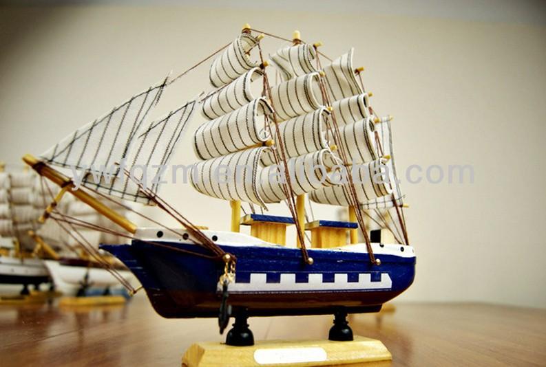 Houten ambachtelijke boot decoratie houten zeilboot for Decoratie zeilboot