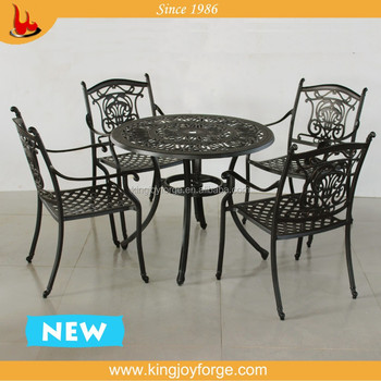 Cast Aluminum Patio Furniture Dinging Table And Chair Buy Aluminum