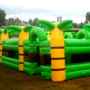 Outdoor kids inflatable maze haunted playground