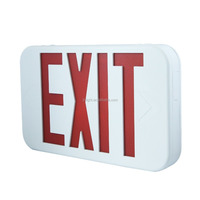 Waterproof 3D Battery Operated Red LED Emergency Exit Sign W/.Battery Backup Emergency Safety Lights