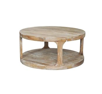 Loft Coffee Table Round Weathered Gray