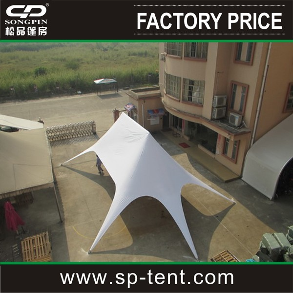 Big double top ourdoor star shape canopy tent on lawn